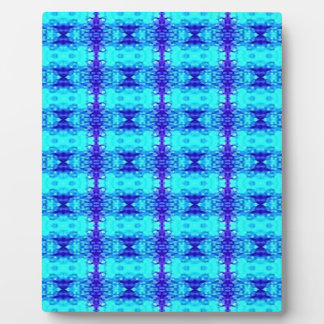 Colorful Neon Blue Royal Blue Tribal Pattern Plaque