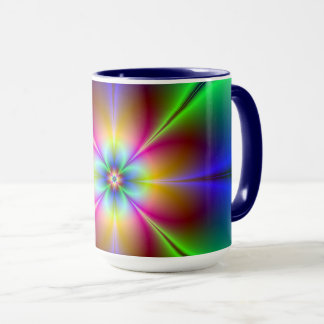 Colorful Neon Daisy Mug