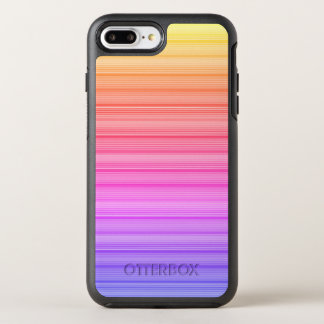 Colorful Neon Line Pattern OtterBox Symmetry iPhone 8 Plus/7 Plus Case