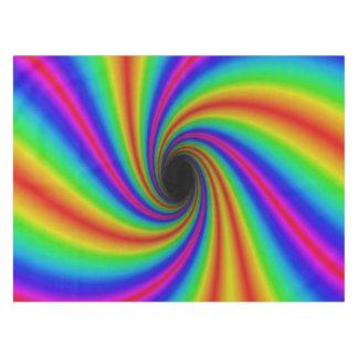 Colorful Neon Rainbow Swirl Tablecloth