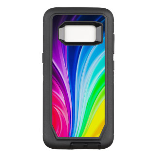 Colorful Neon Rays OtterBox Defender Samsung Galaxy S8 Case