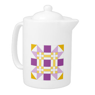 Colorful New Mexico Star Pattern Large Teapot