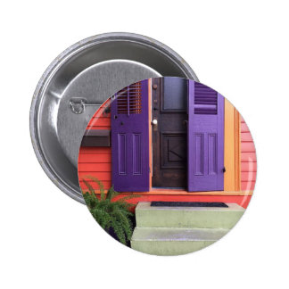 Colorful New Orleans Marigny House 2 Inch Round Button
