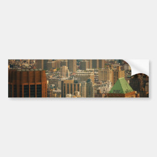 Colorful New York City Rooftops Car Bumper Sticker