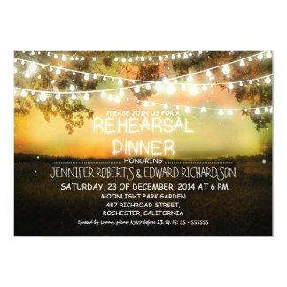 colorful night lights rehearsal dinner invitation