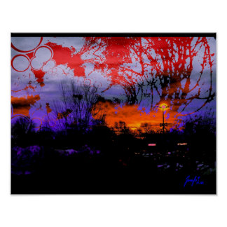 Colorful Night Scene Posters