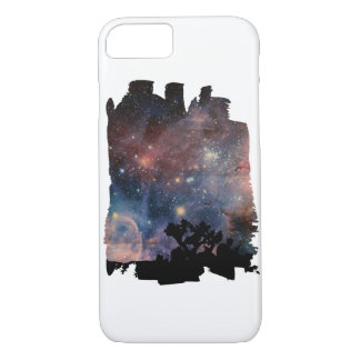 Colorful Night Sky while Camping & Reading iPhone 7 Case