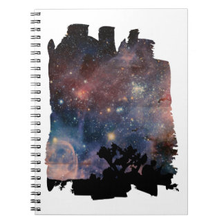 Colorful Night Sky while Camping & Reading Notebooks