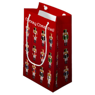 Colorful Nutcracker Toy Soldiers Small Gift Bag