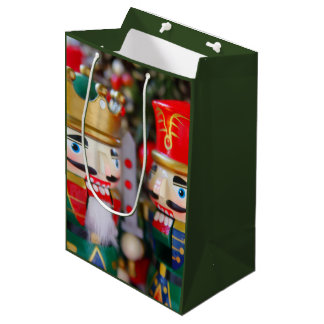 Colorful nutcrackers medium gift bag