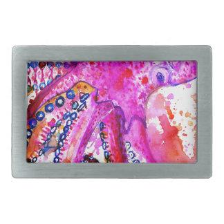 Colorful Octopus Art02 Belt Buckle
