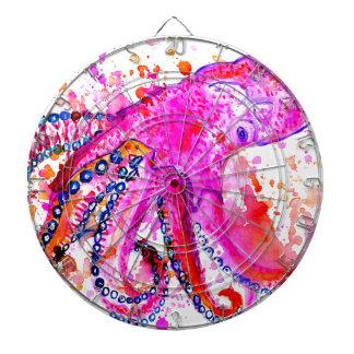 Colorful Octopus Art02 Dartboard