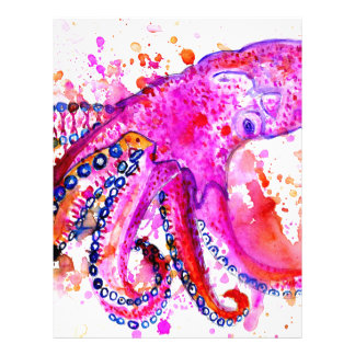 Colorful Octopus Art02 Letterhead