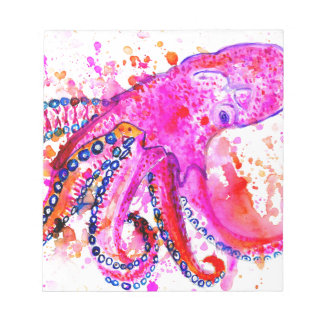 Colorful Octopus Art02 Notepad