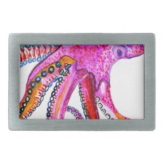 Colorful Octopus Art2 Belt Buckles