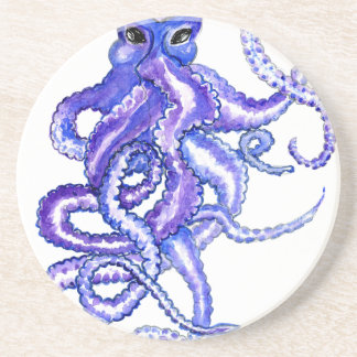 Colorful Octopus Art Coaster