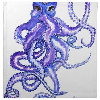 Colorful Octopus Art Napkin