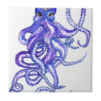 Colorful Octopus Art Tile