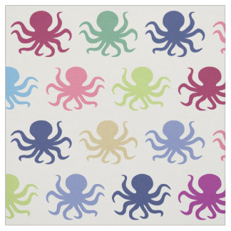Colorful octopus fabric