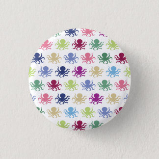 Colorful octopus pattern 1 inch round button