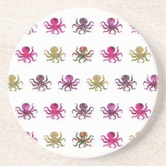 Colorful octopus pattern coaster
