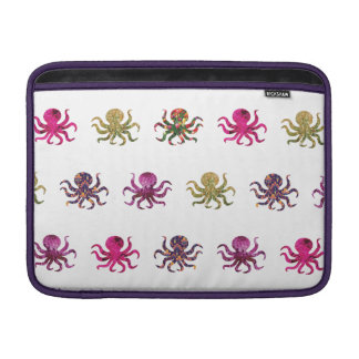 Colorful octopus pattern MacBook sleeve