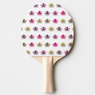 Colorful octopus pattern ping pong paddle
