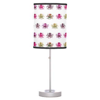 Colorful octopus pattern table lamp