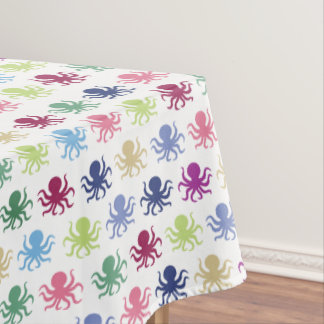 Colorful octopus pattern tablecloth