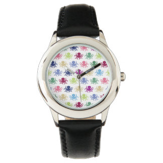 Colorful octopus pattern watch