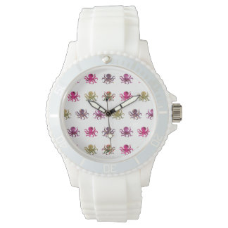 Colorful octopus pattern wrist watches
