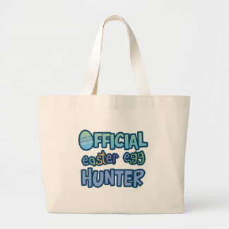 Colorful Official Easter Egg Hunter Jumbo Tote Bag