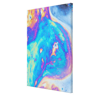 Colorful oil patterns, Canada Canvas Print