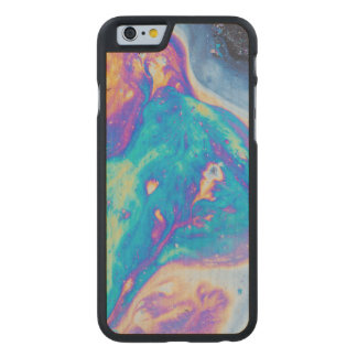 Colorful oil patterns, Canada Carved Maple iPhone 6 Case