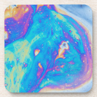 Colorful oil patterns, Canada Coaster