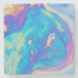 Colorful oil patterns, Canada Stone Coaster