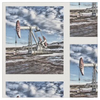 Colorful Oilfield Pumpjack Fabric