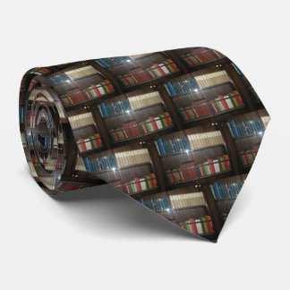 Colorful Old Books Tie