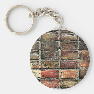 Colorful Old Weathered Stone Wall Texture Basic Round Button Keychain