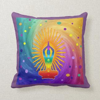 COLORFUL Om Meditation Mantra Chanting DESIGN Throw Pillow