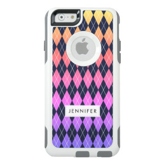 Colorful Ombre Argyle Pattern iPhone 6/6S Case
