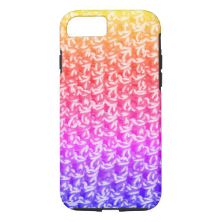Colorful Ombre Crochet Knit iPhone 7 Case