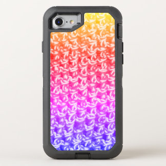 Colorful Ombre Crochet Knit OtterBox Defender iPhone 8/7 Case