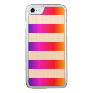 Colorful Ombre Stripes Carved iPhone 8/7 Case