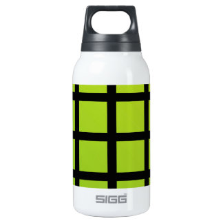 Colorful optical illusion insulated water bottle