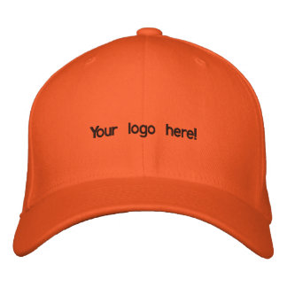 Colorful orange cap embroidered baseball caps