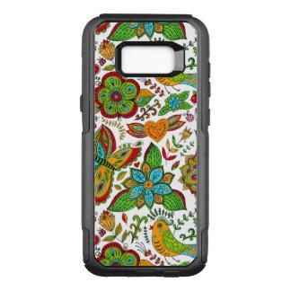 Colorful Orante Retro Floral Collage Pattern G8 OtterBox Commuter Samsung Galaxy S8+ Case