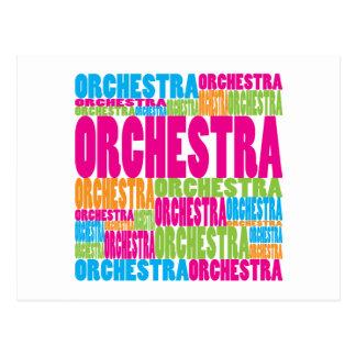 Colorful Orchestra Postcard