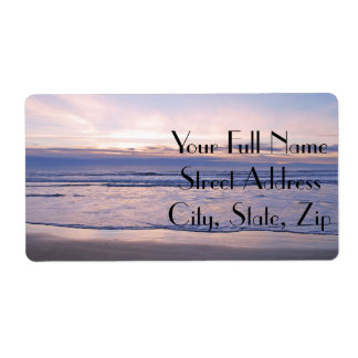 Colorful Oregon Coast Sunset Shipping Label