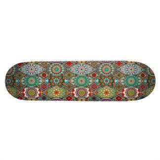 Colorful oval various mandalas floral pattern custom skateboard